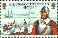 1986 IOM - Myles Standish of the Mayflower - Stamps frm M/S MNH